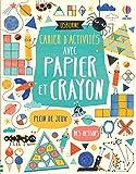 Cahier d'activités avec papier et crayon