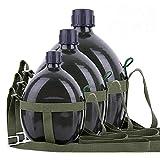 NOBRAND Botella de agua Militar de entrenamiento hervidor 87 tipo al aire libre portátil ventiladores militares de gran capacidad de aluminio de moda, 3 litros.