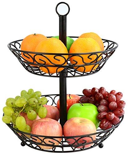 Surpahs 2-Tier Countertop Fruit Basket Stand