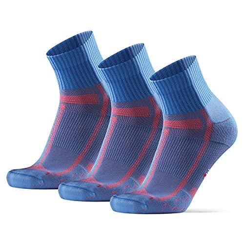 DANISH ENDURANCE Calzini da Corsa, per Uomo e Donna, per Lunga Distanza, Running (Azzurro/Arancione, 39-42)