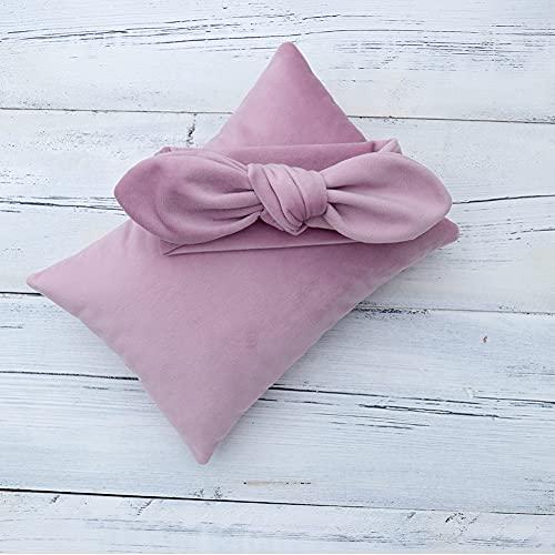 YANGLIXIA Newborn Photography Photo Props Velvet Almohada Diadema Set Baby Photo Auxiliar Auxiliar Props Pillow Conjunto Purple
