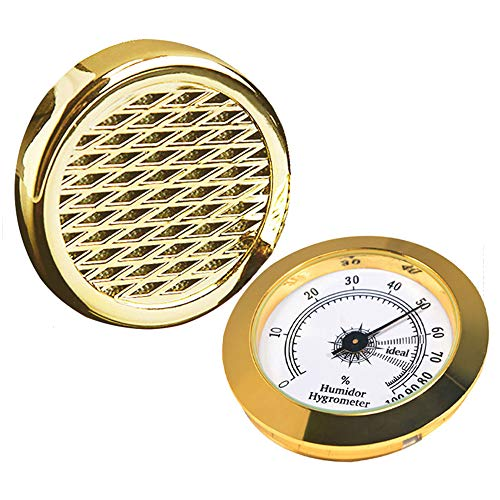 Cigar Hygrometer - Cigar Humidifier - Precision Round Adjustable Point Hygrometer - for Tobacco Moisturizing and Increased Humidity - Suitable for Cigar Box/Cigar Cabinet