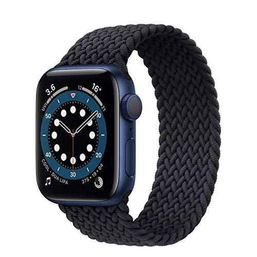 Pulseira Loop Nylon Trançada P/Smartwatch Cor Preto Tamanho: 42/44