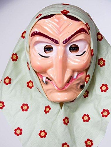 Festartikel Müller Kostüm Zubehör Maske Hexe Hexenmaske mit Kopftuch Karneval Fasching