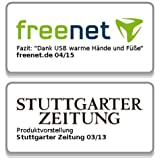 infactory Deluxe-Plüsch-Pantoffeln mit USB-Wärmesohle bis Gr. 39 - 4