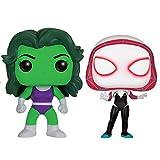 Funko - Figurine Marvel - 2-Pack She Hulk & Spider Gwen Exclu Pop 10cm - 0889698125178