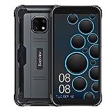 Movil Resistentes, Blackview BV4900 Android 10 Impermeable Smartphone, 5.7' HD + Pantalla Teléfonos, Cámara de 8MP, 3GB + 32GB, 5580 mAh Batería, Dual SIM, GPS, NFC, Face ID - Negro