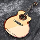 HSHUIJP Guitar All Solid Wood Acoustic Guitar,41-inch Spruce top Rosewood Body guitarMusical Instruments Acoustic Guitar KitsAcoustic Steel-String Guitars (Size : 41 inches)