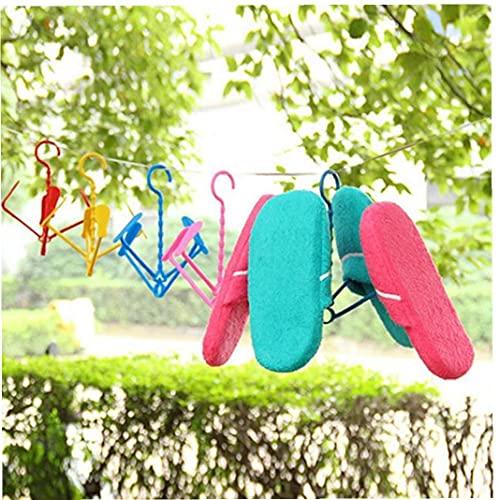 Ruluti Zapatos De La Suspensión De La Novedad De Plástico Plegable para Colgar Zapatos Tendedero Titular De La Zapata Color Azar