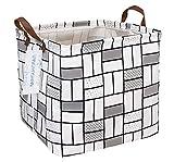 Cajas de almacenamiento cuadradas de lona impermeable para niños, para lavandería/guardería, para estantes/cestas de regalo, organizador de juguetes, decoración de habitación de bebé (ladrillos...