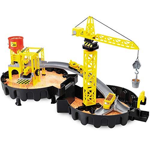 Jungenspielzeug Kinderspielzeug Friction Car Sanitation Car Box Auto Flugzeuganhänger Kindergeburtstagsgeschenk-Großer Parkplatz