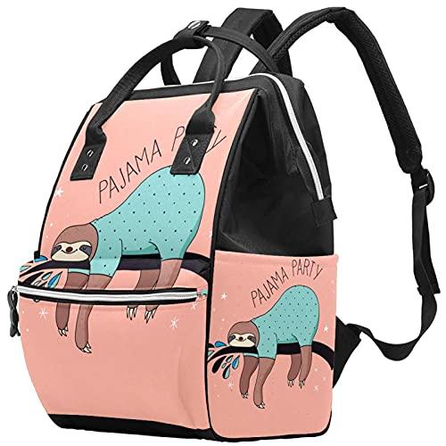 WJJSXKA Mochilas Bolsa de pañales Laptop Notebook Mochila Viaje Senderismo Daypack para Mujeres Hombres - Fiesta de pijamas perezosos