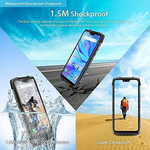 Telephone Incassable, Blackview® BV9700 Pro Smartphone Débloqué 4G (5.84