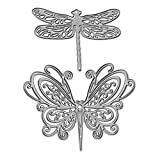 Metal Butterfly Cutting Dies,Dragonfly Die Cuts Embossing Stencils Template Mould for Card Scrapbooking and DIY Craft Album Paper Card Decor
