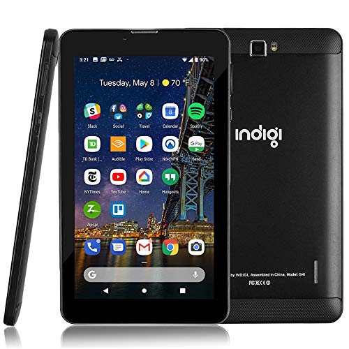 Indigi New 4G LTE 7-inch Android 9 Tablet & Phone (QuadCore + 2SIM + 2GB RAM/16GB Storage + GSM Unlocked)