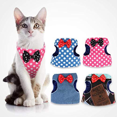 Katherinabait Arnés para Gatos, arnés para Gatos con Material Duradero y Suave, cómodo para Correr, pasear, Correr con Perros y Gatos, Cachorros pequeños