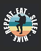 Eat Sleep Hike Repeat: College Ruled Composition Notebook