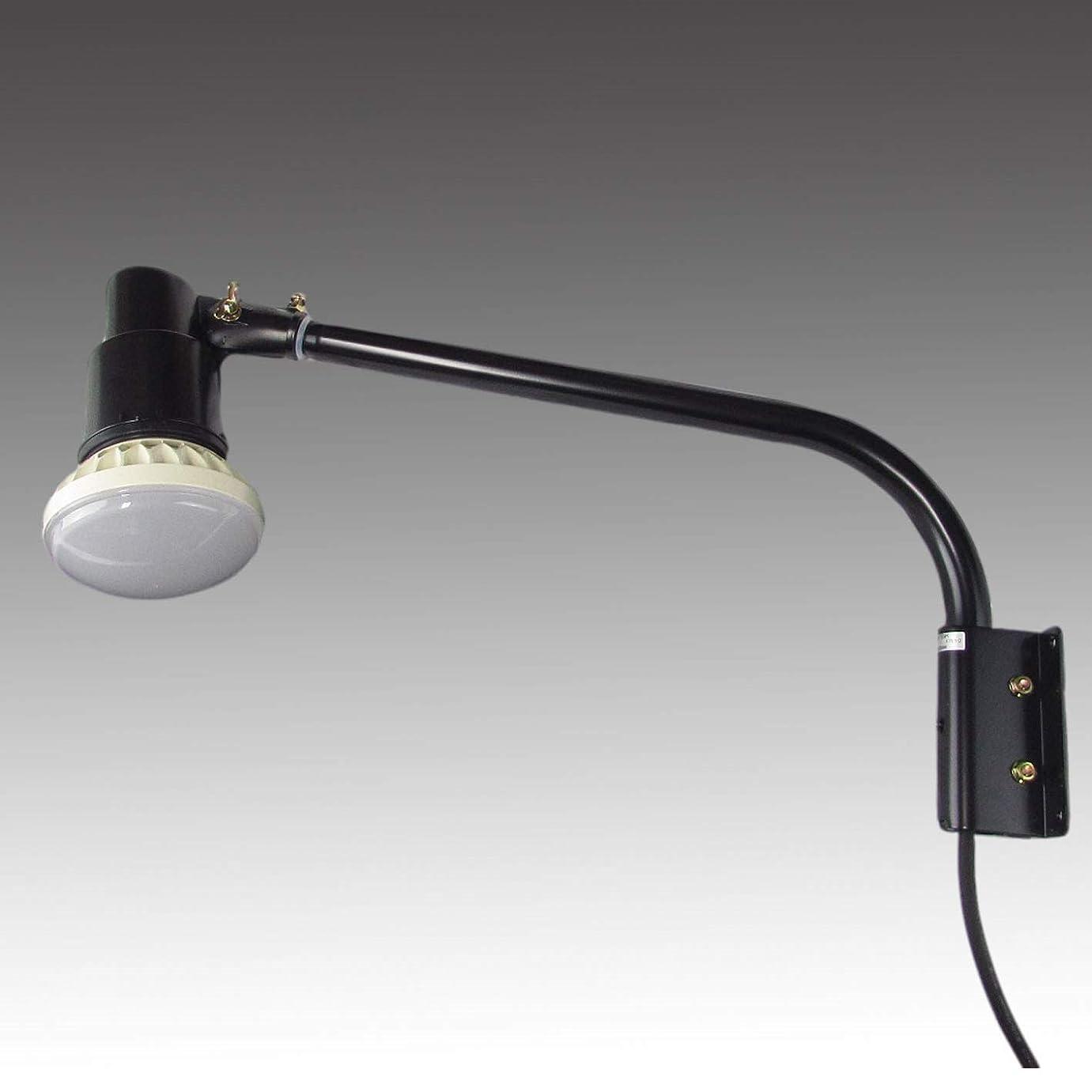 読書をする許容規則性【2年保証】屋外用LEDライト20W200W相当形 ショートアームセット(本体色:ブラック アーム長465mm) (5000K昼白色(白色))