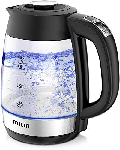 MILIN Electric Kettle, Variable Temperature Control Electric Tea Kettle, 1500W 8 Big Cups 1.7L with...