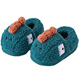 PJZHJ Toddler Slippers for Boys Girls Fuzzy Cute Kids Slippers Dinosaur Indoor House Bedroom Shoes 1719/Blue/160