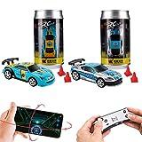 Remote Control car,Pocket rc car Phone Control Cars boy Toys, Mini Coke can Racing Remote-Control car,2 Pack(2.4GHZ)