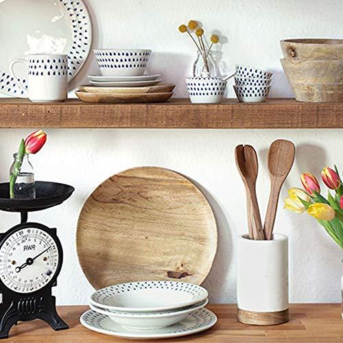 Azucarero con cuchara de cerámica, juego de utensilios de cocina, accesorios de cocina, hecho a mano, regalo de Navidad