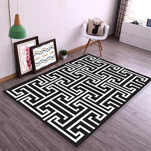 TAGEXZ Alfombras tejidas dormitorio, tapicería, bienvenida, cojín para los pies, alfombra de baño, alfombra para el hogar, salón, alfombra nórdica, colchón de oración 12