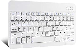 لوحة مفاتيح بلوتوث لاسلكية من XIWMIX فائقة النحافة - لوحة مفاتيح بلوتوث عالمية قابلة للشحن متوافقة مع iPad Pro/iPad Air/iP...