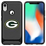 Packers iPhone XR Case Cover Slim Soft Carbon Fiber Pattern Silicone TPU Protective Durable Snap on Shell for iPhone XR 6.1 inch Black