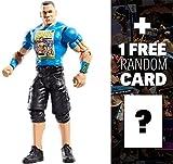 John Cena con señal de ventilador: WWE figura básica KM serie exclusiva + 1 paquete de tarjeta ofici...