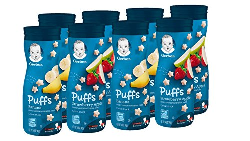 Gerber Puffs Cereal Snack, Banana & Strawberry Apple