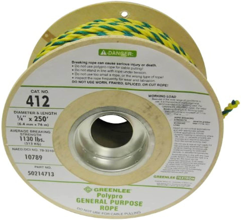 Grünlee 412 beschleunigungskraft Allgemeine Zwecke Seil, 1 4-Zoll von 250-foot B0042T1JAU | Spielen Sie Leidenschaft, spielen Sie die Ernte, spielen Sie die Welt
