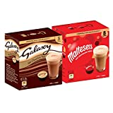 Galaxy & Maltesers Hot Chocolate - Double Box Variety Pack - 8 Pods of Each Flavour - Dolce Gusto Compatible Pods