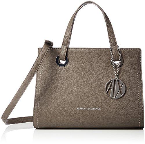 ARMANI EXCHANGE Small Shopping Bag - Borse Tote Donna, Marrone (Taupe), 20x13x26 cm (B x H T)