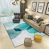 Alfombra alfombras Dormitorio Tinta Gris Azul Doodle Diseño geométrico Sala de Estar Alfombra Antideslizante Alfombra Pelo Corto Salon alfombras habitacion Matrimonio 140*200cm