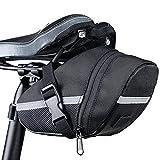 e-smile サドルバッグ 自転車 簡単取付 ロード クロス バイク MTB 自転車テールバッグ ロードバイクバック サイクリング ブラック