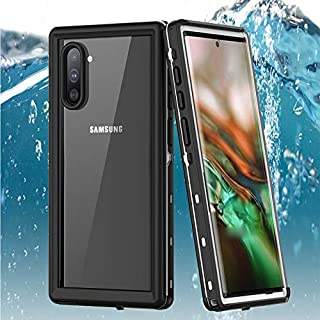 Galaxy Note 10 Waterproof Case, ZERMU Shockproof Snowproof Cover IP68 Underwater Full Body Protection Crystal Transparent Built-in Screen Protector Waterproof Case for Samsung Galaxy Note 10 6.3