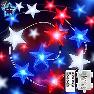 FastDeng 4th of July Decorations-Red White and ...