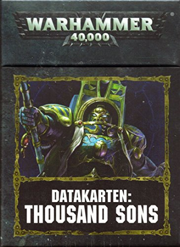 Warhammer 40k Chaos Space Marines Datacards: Thousand Sons (DE) Games Workshop