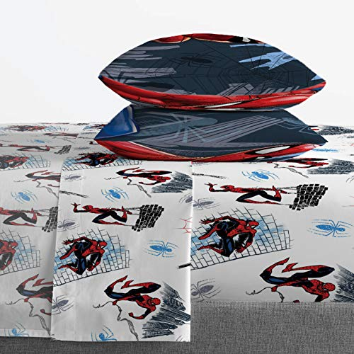 Product Image 3: Jay Franco Marvel Spiderman Crawl 5 Piece Full Bed Set – Includes Reversible Comforter & Sheet Set Bedding – Super Soft Fade Resistant Microfiber – (Official Marvel Product)