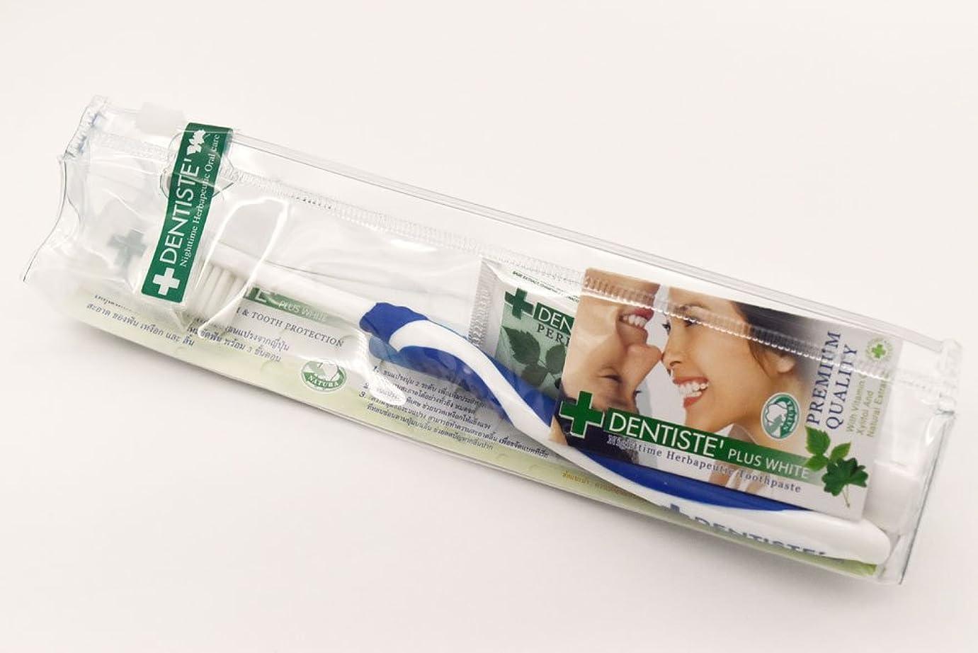 生産性ループ色合いDENTISTE' デンティス トラベルセット 20g+1本(アソート歯ブラシ※色は選べません) 並行輸入品