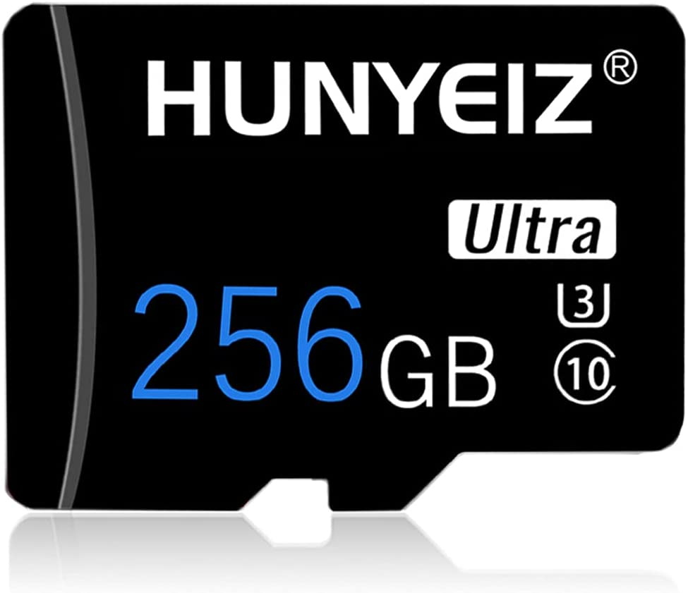 256GB Memory Card Class 10 Card Micro SD Card Compatible Computer Camera and Smartphone TF Memory Card with a SD Card Adapter