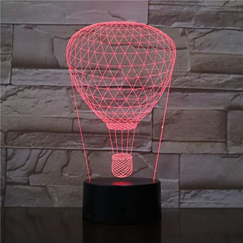 shiyueNB Bombilla 3D Globo aerostático Entrega Directa Efectos de iluminación Visual Multicolor con Control Remoto Funcionamiento con batería LED luz Nocturna