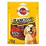 Pedigree Ranchos Snack para mimar a tu Perro, Sabor Pollo (Pack de 7 x 70g)