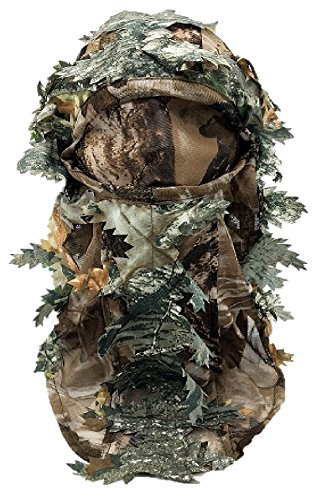 3D GHILLIE MASK FACE CAMO CAMOUFLAGE LEAVES WOODS PAINTBALL PIGEON SHOOTING