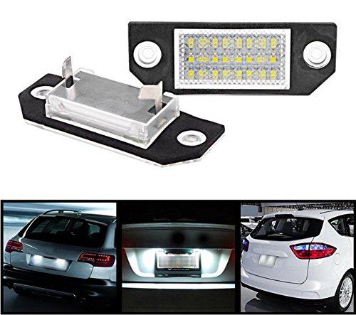 Inlink LPL-2 2-Pack 24-SMD Kennzeichenbeleuchtung Kennzeichen Licht 6000K Xenon-Weiß Nummernschilder Lampe