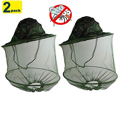 Chapeau de tête de moustique de camouflage vert avec maille cachée, chapeau de pêche en plein air, chapeau de soleil, protection répulsive contre les insectes insectes pour les amoureux des hommes