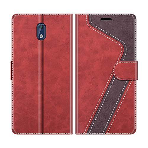 MOBESV Handyhülle für Nokia 3 Hülle Leder, Nokia 3 Klapphülle Handytasche Case für Nokia 3 Handy Hüllen, Modisch Rot