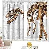 Cortinas con diseño de dinosaurio, arqueología, T-Rex W52 x L84 pulgadas