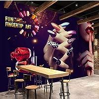 Iusasdz カスタム大きな壁画ヴィンテージメイクネイルアートツーリング写真壁紙壁用壁布3Dリビングルームテレビ背景家の装飾-350X250Cm